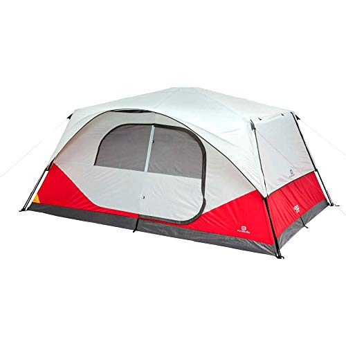 Outbound 10-Person Instant Pop up Tent for Camping with Carry Bag and Rainfly   Perfect for Backpacking or The Beach   Cabin Tent, Red
