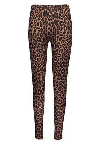Fashion Oasis Skater-Kleid für Mädchen, Leopardenmuster, mit Gürtel, Crop-Top, Leggings, Boyfriend-Strickjacke, Größe 7–13 (separat erhältlich) Gr. 9-10 Jahre, Leggings mit Leopardenmuster