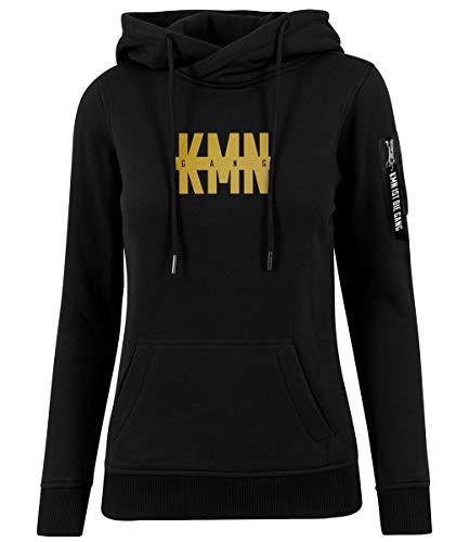 KMN Gang Ladies Bomber Hoody schwarz, Farbe:schwarz, Größe:L