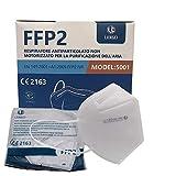 20 Mascarillas faciales FFP2 Certificadas por CE, y Selladas individualmente, Mascarillas Homologadas