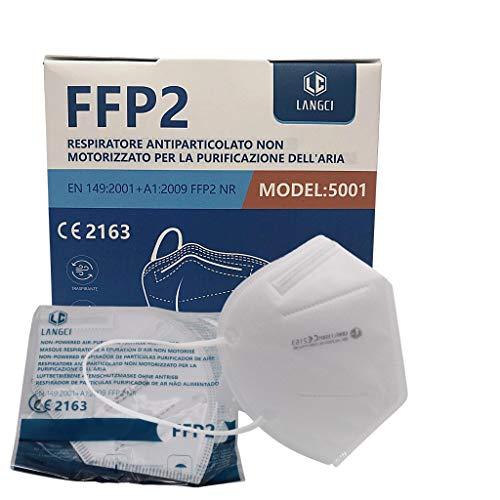 FFP2 ATEMSCHUTZMASKEN 5 LAGIGE MUNDSCHUTZMASKE EINZELVERPACKT ZERTIFIZIERT CE 2163/ EU 2016/425