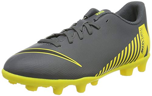 Nike Unisex-Kinder Vapor 12 Club Ps (V) MG Fußballschuhe, Grau (Dark Grey/Black-Opti Yellow 070), 31 EU
