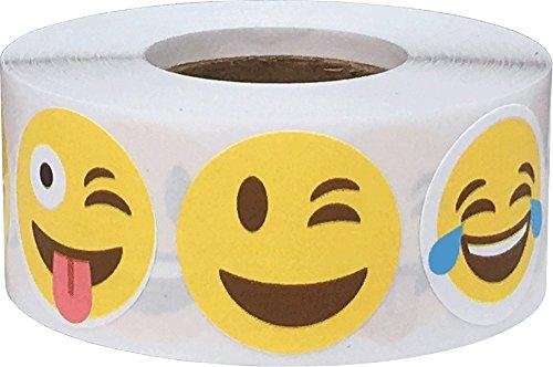 Emoji Pegatinas de Cara Feliz, 25 mm 1 Pulgadas Etiquetas Ci