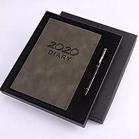 FZETAOノートA5効率マニュアルスケジュールプランナーの管理カレンダーブック日記ノート-_A5グレーギフトボックス