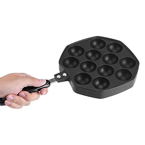 Antihaft-Takoyaki-Pfanne, Aluminium-12-Kavitäten-Backblech-Pfannkuchen-Herstellerplatte, für Zuhause/Küche