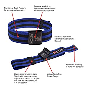 FITIZ Occlusion Bands Blood Flow Restriction Bands Flexible for Arms and Legs Get Lean Muscles and Achieve Fast Growth Without Heavy Weights Bodybuilding Blood Resistance Bands - Blue