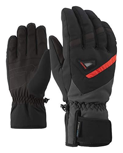 Ziener Herren GARY AS glove ski alpine Ski-handschuhe / Wintersport   wasserdicht, atmungsaktiv, schwarz (black/graphite), 9