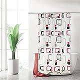 OZSEN Duschvorhang 180 x 200cm, PEVA, Wasserdicht Transparent Badewanne Anti-Schimmel, mit 12 Haken