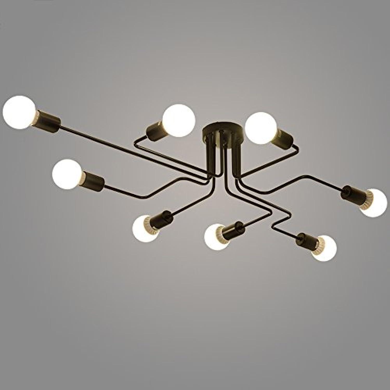 Modeen Army Industrial Deck Deckenleuchte -4-46 Lampenhalter Schmiedeeisen Lampe Kronleuchter Pendelleuchte 8 Lampen Schuppen Villa Garage Beleuchtung Leuchten [Energieklasse A ++] (Größe   8heads)