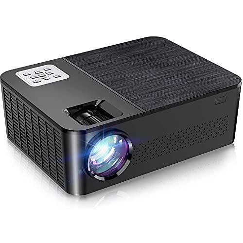 Proyector 7000 Lúmenes, Proyector Full HD 1080P Nativo Soporte 4K, Proyector Sonido Dolby y Zoom del 75%, Pantalla 200', Portátil Proyector Cine en Casa para IOS/Android/PS4/TV Stick