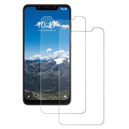 POOPHUNS Verre Trempé pour Xiaomi Pocophone F1 [2 Pack] Protege Film Ecran Verre Trempé pour Xiaomi Pocophone F1 - Anti-Rayures - HD - Ultra Resistant Dureté 9H - sans Bulles
