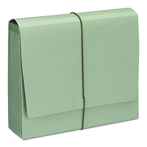 Smead 100% Recycled Expanding File 12 Pockets, Flap and Cord Closure, Letter Size, Green Tea (70778)