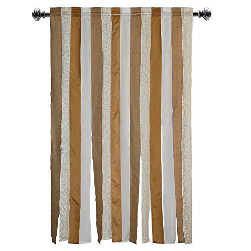 Baumwolle Craft Jute Jute Rod Pocket Fenster Elementen–EIN Paar–Natur 54x 84. Handgefertigt & Hand genäht–großzügiger 15,2cm Saum–wirklich anspruchsvolles