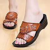 Masaje para Zapatillas,Kraft Slope con Zapatos Madre Sandalias, Medio y Viejo, Ventilación Soft Soft Sin Bottless Slippers-Amarillo_39,Zapatillas para Masaje de pies