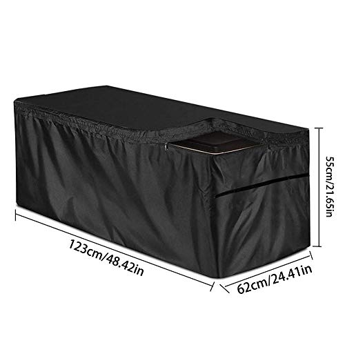 Waterproof Quick Open Cover Top with Zipper - Best Fit for Deck Heavy Duty Waterproof Deck Box Cover Protects from Outdoor Rain Wind and Snow