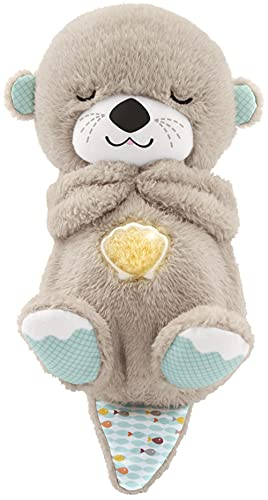 Fisher-Price Soothe 'n Snuggle Otter, Portable Plush Soother with Music, Sounds, Lights and Breathing Motion