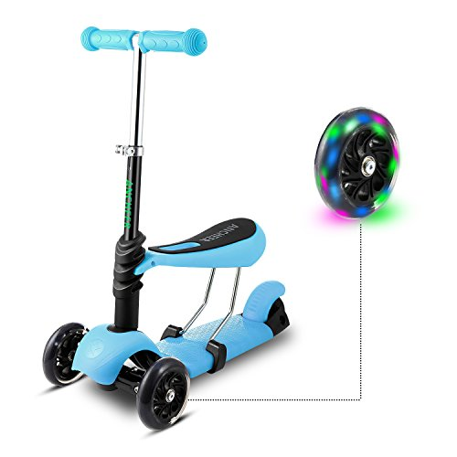 Hikole Scooter for Kids, Lights Up Scooters for...
