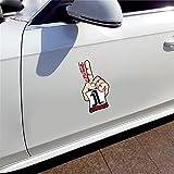 Calcomanía creativa con personalidad de Jorge Lorenzo, accesorios de coche, cuerpo para coche, pegatinas de graffiti de 13Cm X 7,1Cm(Juego de 2)
