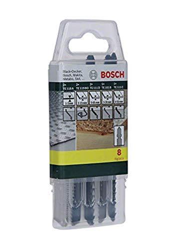 Bosch Professional Set 8 Lame Seghetto Alternativo Misto per Legno, Metallo, Plastica, Attacco T
