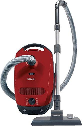 Miele Classic C1 EcoLine Bodenstaubsauger (mit Beutel 4,5 Liter Staubbbeutelvolumen, 550 Watt, 9 m Aktionsradius, besonders leicht 5,8 kg inkl. dreiteiligem Zubehör) rot