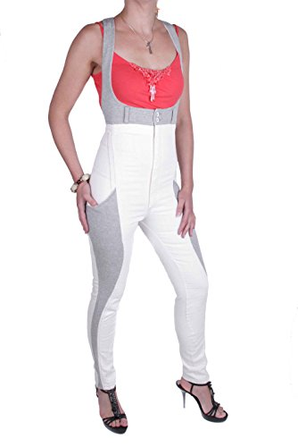 Diesel Damen Overall Jumpsuit NYSS08.26 (Creme, S)