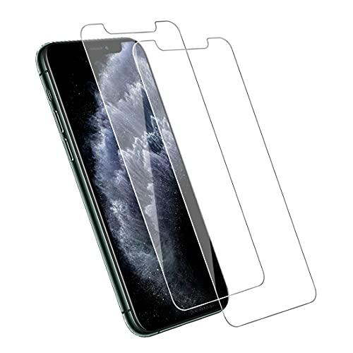【2枚セット】iPhone 11 Pro 用 iPhone Xs 用 X 用 ガラスフィルム 日本旭硝子製 アイフォン11 Pro 用 Xs 用 X 用 強化ガラス 液晶保護フィルム 硬度9H/透過率99.9%/気泡ゼロ/飛散防止/簡単貼り付/自動吸着/スクラッチ防止/3D Touch対応/超薄型/耐衝撃 5.8インチ iPhone11 Pro 用 iPhone Xs 用 X 用 全面フイルム-透