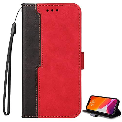 BAILI Funda para OnePlus 6T PU Cuero Folio Carcasa[Soporte Plegable][Magnético] Premium Cierre Flip Carcasa para OnePlus 6T Teléfono Móvil,PS03