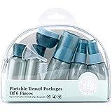 Greenwoodhomer - Juego de 6 botellas de maquillaje vacías para viajes, portátil, recargable, para maquillaje, botella de maquillaje, portátil, recargable,