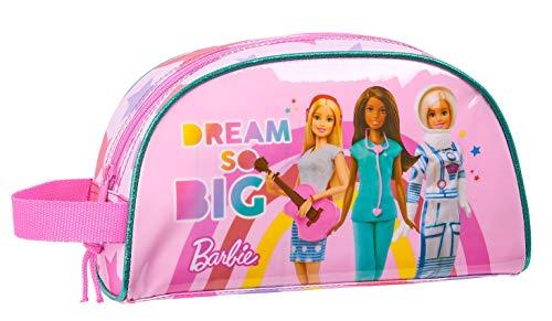 safta 812010824 Neceser, Bolsa de Aseo Adaptable a Carro Barbie, Rosa