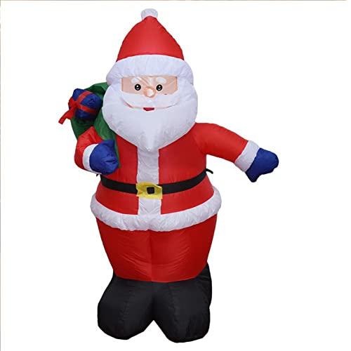 Pupazzo di neve gonfiabile di Natale da 4 piedi con luci a LED rotanti a colori Decorazione per esterni Decorazioni per esplosioni per feste per giocattoli all'apert