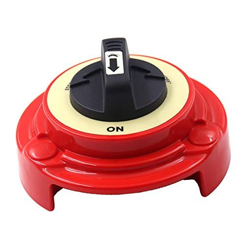 Shiwaki 2-Positionen Batterieschalter Wahlschalter Dual-Batterie Trennschalter mit schlagfestem Gehäuse