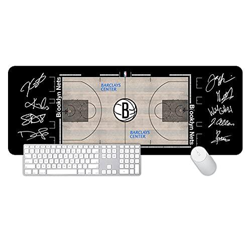 NBA Mouse Pad XL XXL XXXL,Alfombrilla Raton Gaming Grande, Mouse Pad Impermeable con Base Antideslizante y Borde Cosido para el Hogar, Oficina, PC, Portátil 800x300x3mm-Style-18