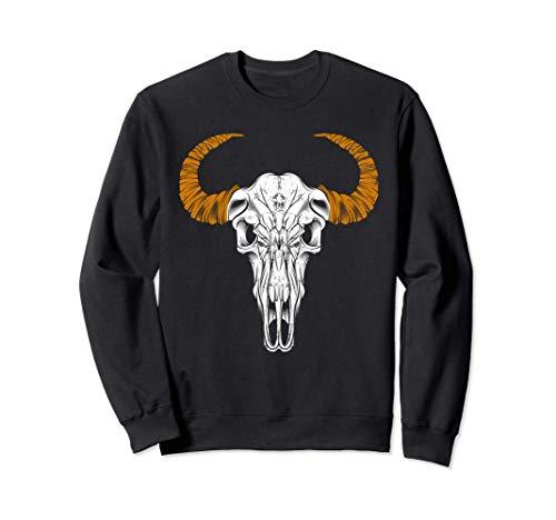 Ganado Longhorn Steer calavera camiseta vaquero vacas y cuer Sudadera