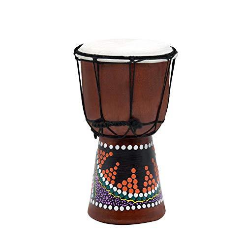 Coseyil 4 Zoll Afrikanische Trommel Handbemalte Bongo Djembe Mahagoni Langlebiges Tamburin Für Kinder Erwachsene Starter Anfänger