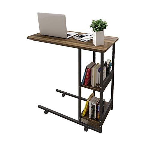 GY mobiel bureau, bureau, laptoptafel, voor thuis, wagen van hout, bijzettafel voor bed, computer, multifunctioneel, 80 x 40 x 75 cm
