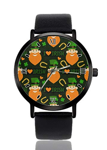 I Love Irish - Reloj de pulsera para mujer, ultrafino, muy simple, analógico, ultrafino, movimiento de cuarzo japonés