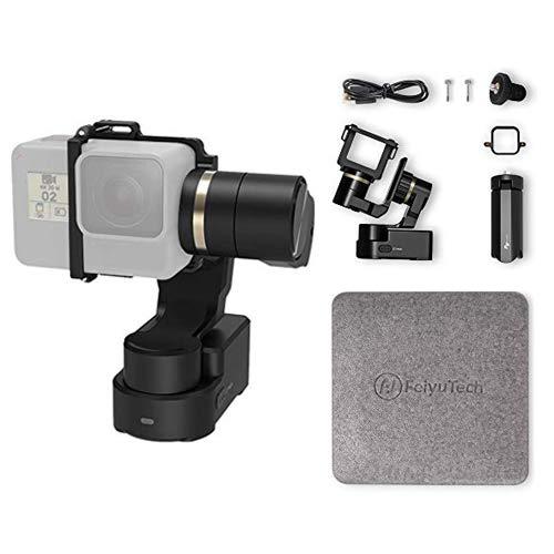 FeiyuTech WG2X 3 Achsen Gimbal Tragbarer Stabilisator für GoPro Hero 8/7/6/5/4/3 Action-Kamera für Fahrrad/Helm/Auto Montage