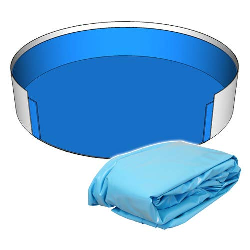 SAXONICA Poolfolie Rund Pool 500 x 120 cm 0,6 mm blau