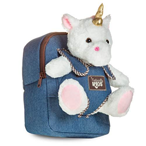 Unicorn Gifts for Girls Small Backpack - Unicorn Toys for 2 3 4 5 6 Year Old Girls Birthday Gift - Unicorn Stuffed Animal Toys Girls Plush Plushie - Unicorns Toddler Denim Backpack Girls Boy Kids Toys