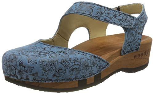 Woody Damen Nicole Pantoletten, Blau (Capri 084), 39 EU