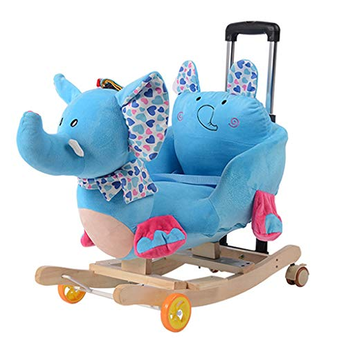 LINGZHIGAN Enfants Toy Car Rocking Chair est la Musique bébé Cadeau d'anniversaire Rocking Horse