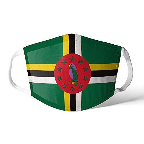 M&schutz Maske Stoffmaske Groß Amerika Flagge Dominica/Dominikanische Wiederverwendbar Waschbar Weiches Baumwollgefühl Polyester Fabrik