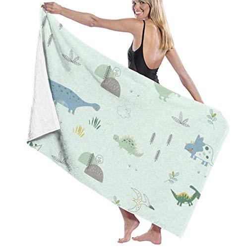 Toalla de playa de secado rápido con diseño de dinosaurio, para viajes, piscina, baño, 80 x 130 cm