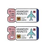 FENICAL 2 Piezas Broche de Esmalte Novedad Dibujos Animados boleto aéreo Pin Insignias alfileres de Solapa Insignias Colecciones de Joyas para Bolsas de Ropa Accesorios de Bricolaje (Blanco)
