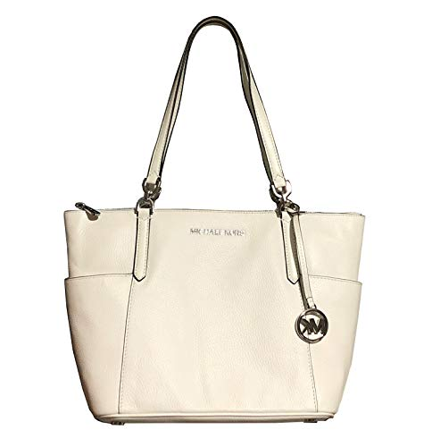 """100% Leather; Silver-Tone Hardware Top Zippered Closure Exterior Details: 2 Side Slip Pockets Interior Details: 2 Slip Pockets, 1 Large Zip Pocket 12""""W (bottom) X 10""""H X 4.5""""D, Double Straps with 10"""" Drop"""
