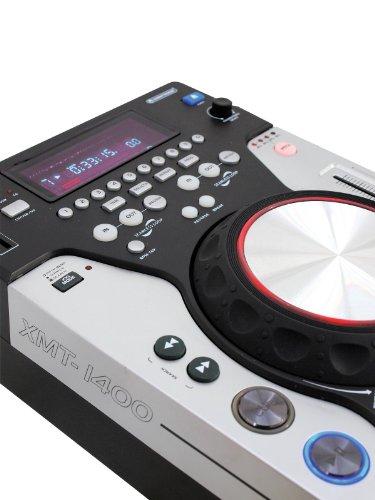 OMNITRONIC XTM-1400 DJ-Player für CD, USB und SD | Tabletop-Player mit Scratch-Funktion für DJs | Anti-Shock-RAM-Speicher