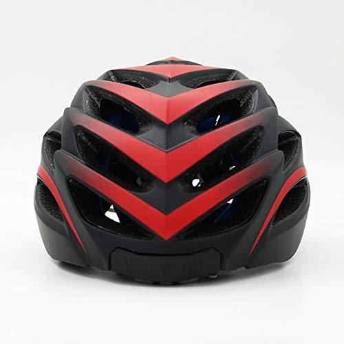 XIAOFENG-R Leichte Adjustable Helm Multifunktions-Fahrrad Smart Helm Mountainbike Bluetooth Helm intelligenter Bluetooth Fahrradhelm Musik geformt Sicherheitsschutz (Color : Red)
