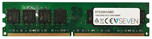 V7 V753001GBD Desktop DDR2 DIMM Arbeitsspeicher 1GB (667MHZ, CL5, PC2-5300, 240pin, 1.8 Volt)