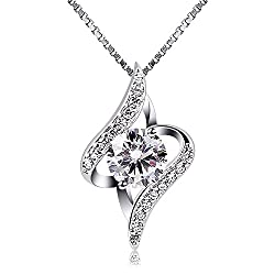 Material: 925 Sterling Silver, 5A Cubic Zirconia. Size: 20mm * 12mm. The Sterling Silver Material itself is Relatively Soft, and it Needs to be Handled Gently to Avoid Scratching. When you Wear it, If it is Oxidized, Blackened or Darkened, Please Use...