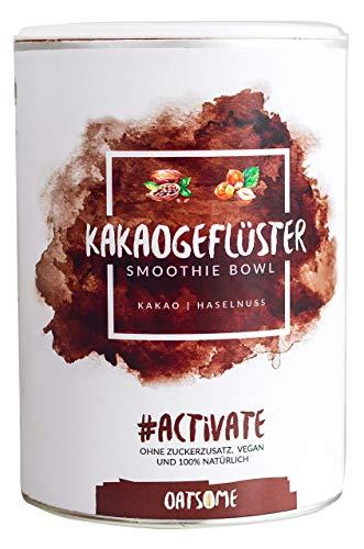 Oatsome Smoothie Bowl Kakao & Haselnuss - Frühstück Pulver für vegane Ernährung - 1min Zubereitung - 100% natürlich, ohne Zusatzstoffe und raffinierten Zucker (Kakaogeflüster, 400g)